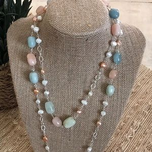 Vantel Pearls Natural Stone Necklace
